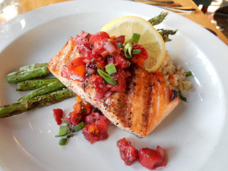 Salmon, Broad Arrow Tavern, Harraseeket Inn, Freeport ME