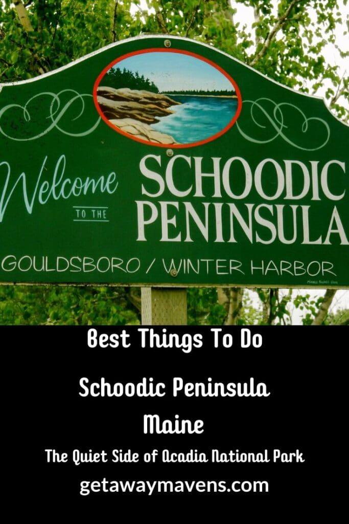 Schoodic Peninsula ME Pin