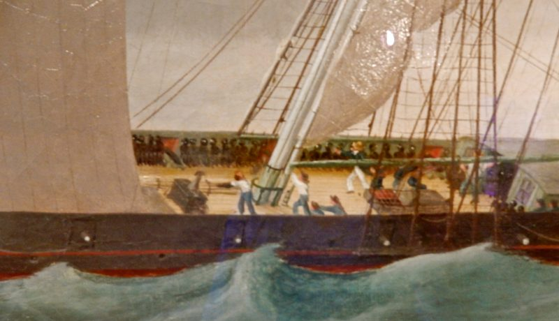 Slave Ship Painting, Penobscot Marine Museum, Searsport ME