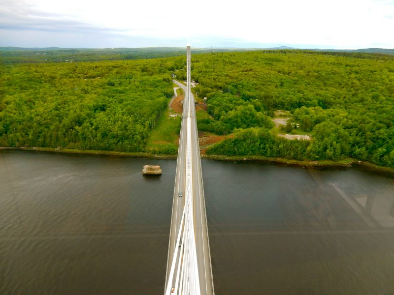 View from the Penobscot Narrows Bridge Observatory
