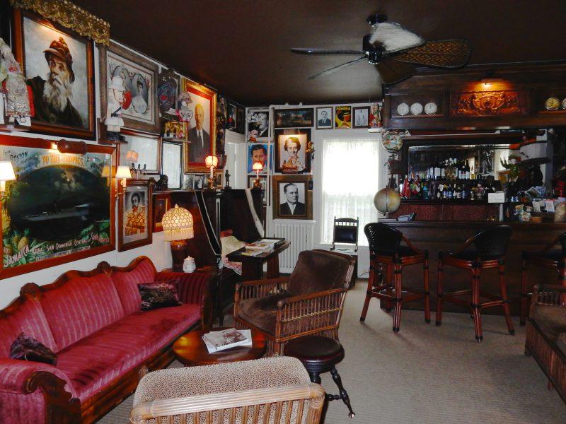 Wall of World Leaders Pub, Pentagoet Inn, Castine ME
