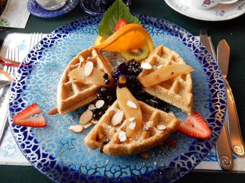 Whole Wheat Waffles, Arcadia's Oceanside Meadow Inn, Prospect Harbor ME