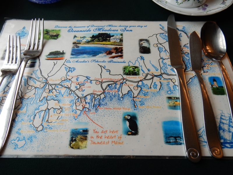 You are here mat, Acadia's Oceanside Meadows Inn, ME