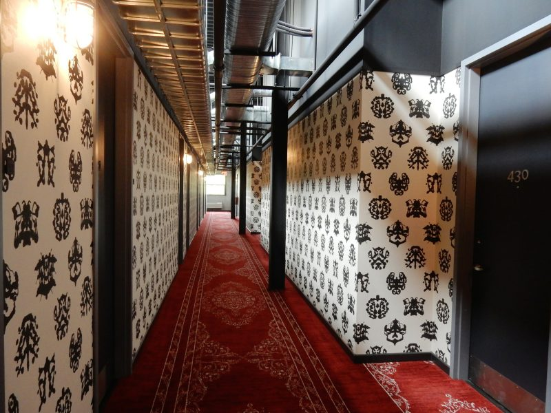 4th floor corridor, Time Hotel Nyack NY