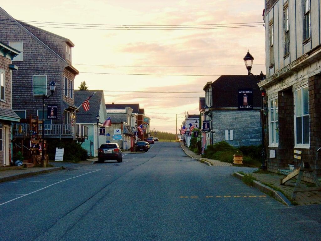 Downtown Lubec ME