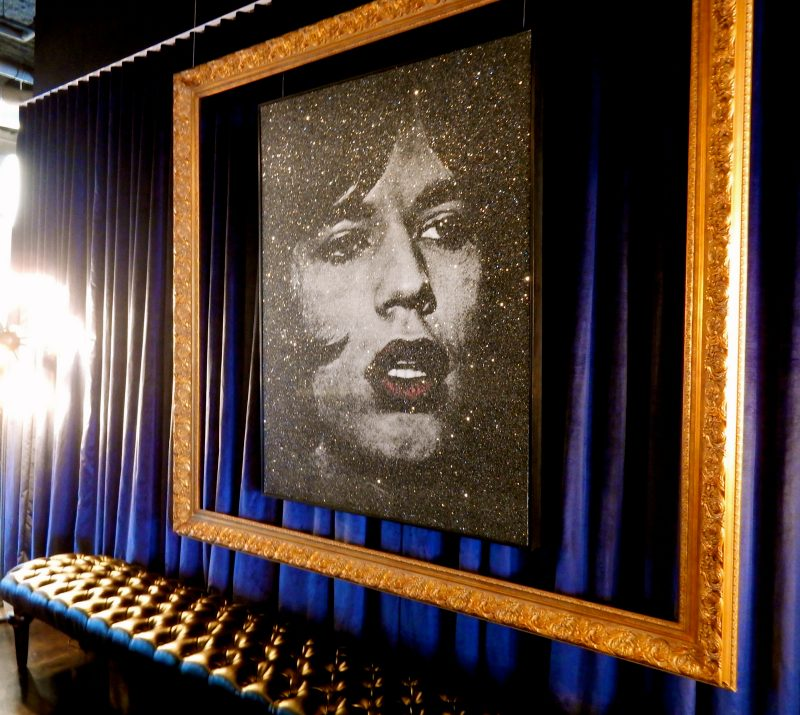 Mick Jagger with Red Lips, Russell Young, Time Hotel Nyack NY