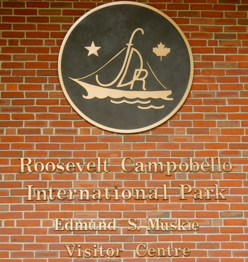 Roosevelt Campobello International Park sign
