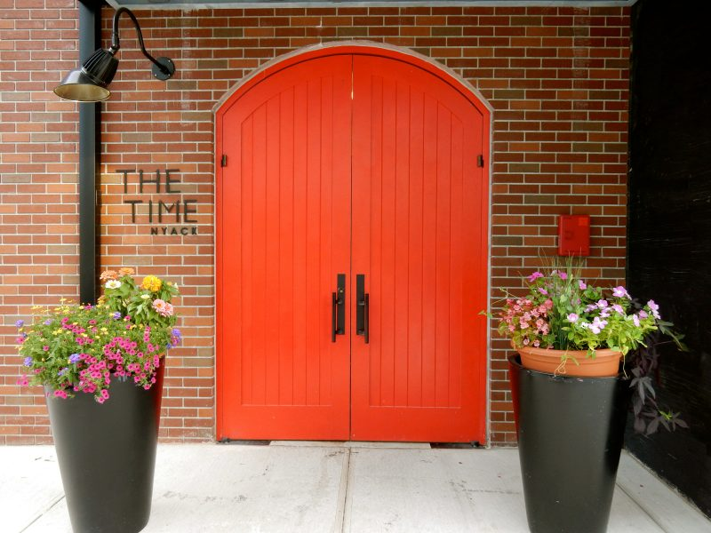 The Time Hotel front door, Nyack NY
