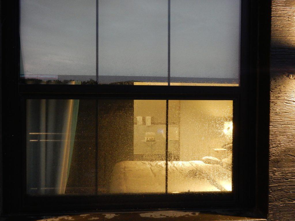 View into room from balcony, Time Hotel, Nyack NY