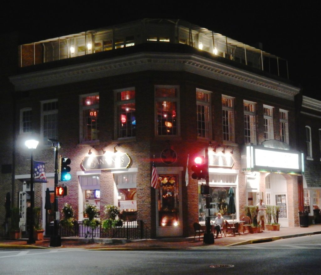 Exterior of Avalon Theater at night - Easton MD