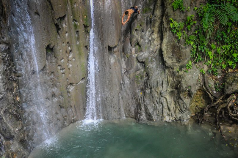 Cliff Diver - Saltadero Natural Monument - Cabrera Dominican Republic