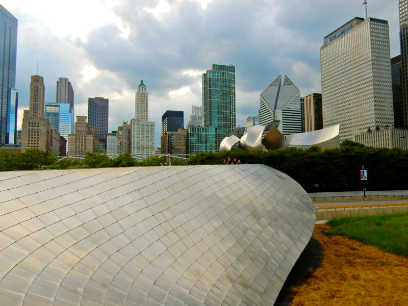 frank-gehry-bridge-pritzker-pavillion-and-downtown-chicago