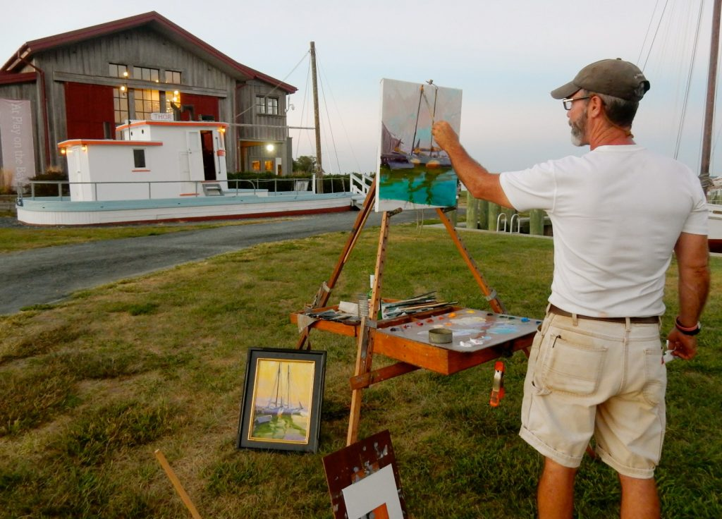 Painting in plein-air on the Chesapeake Bay MD