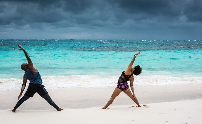 Yoga on Beach