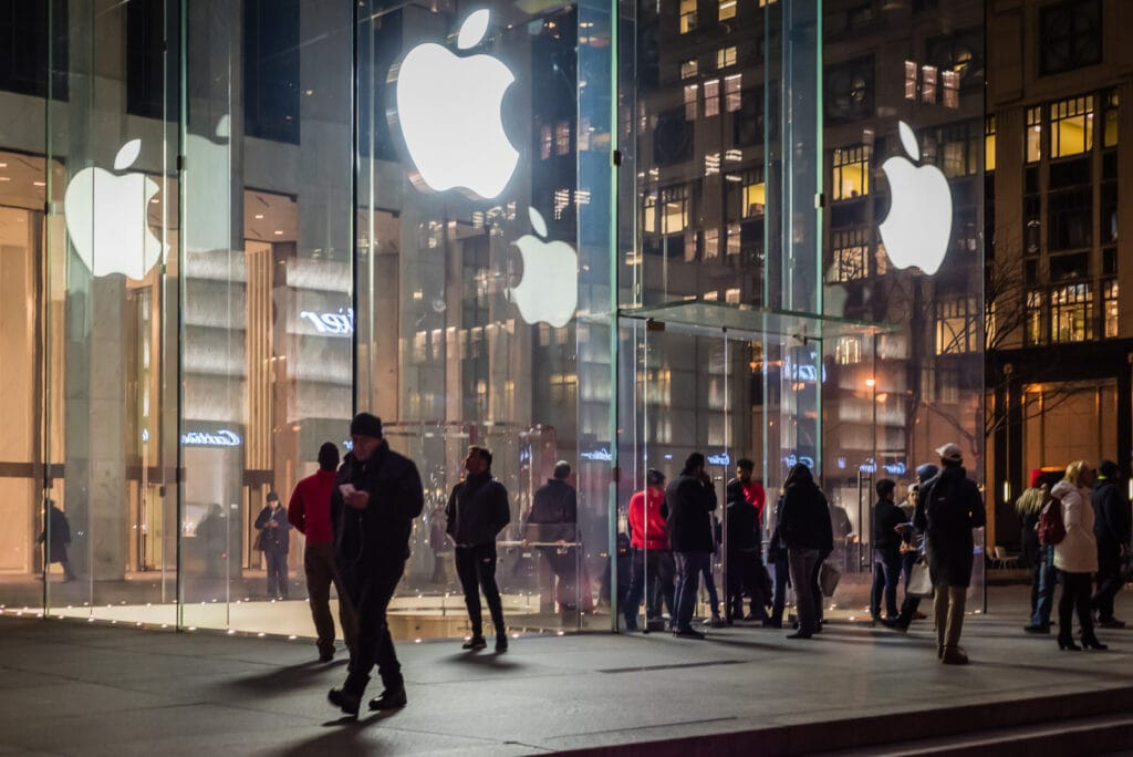 Flagship Apple Store on 5th Avenue in New York City
