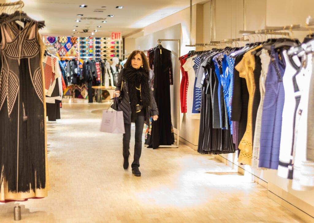 Shopping at Bergdorf Goodman.