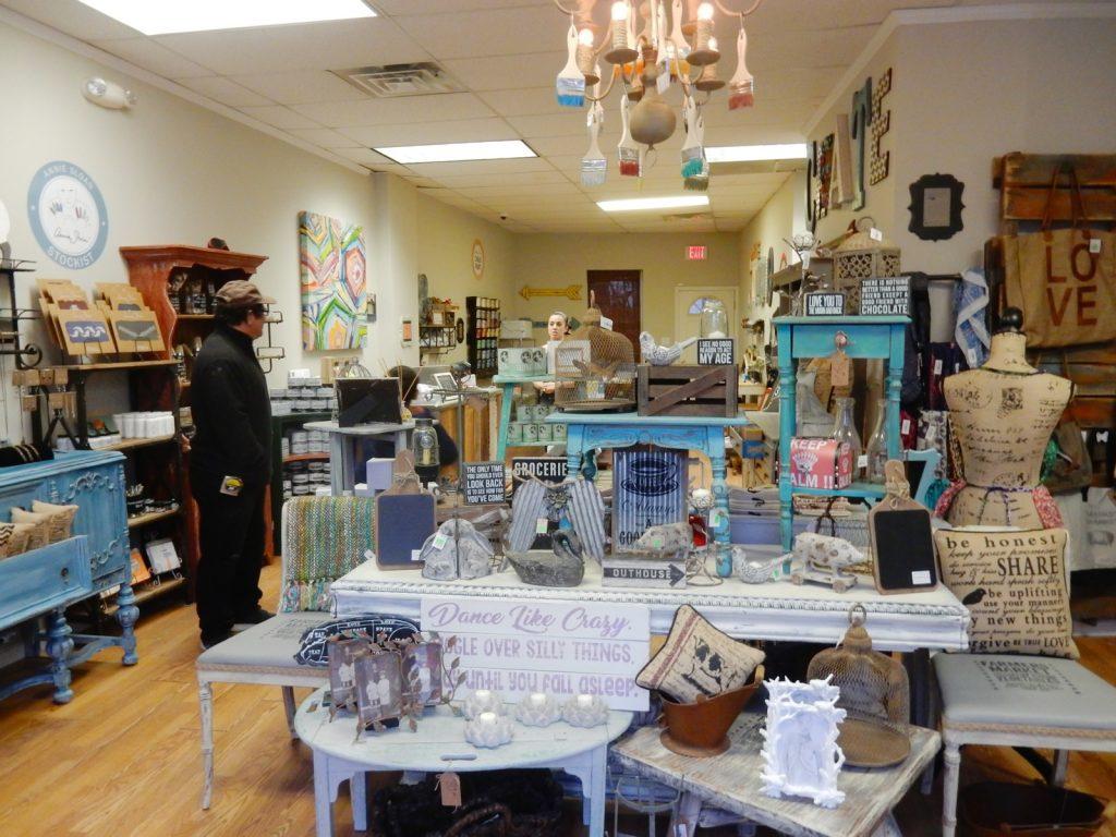 Interior displays of Not Too Shabby Shop in Beacon NY