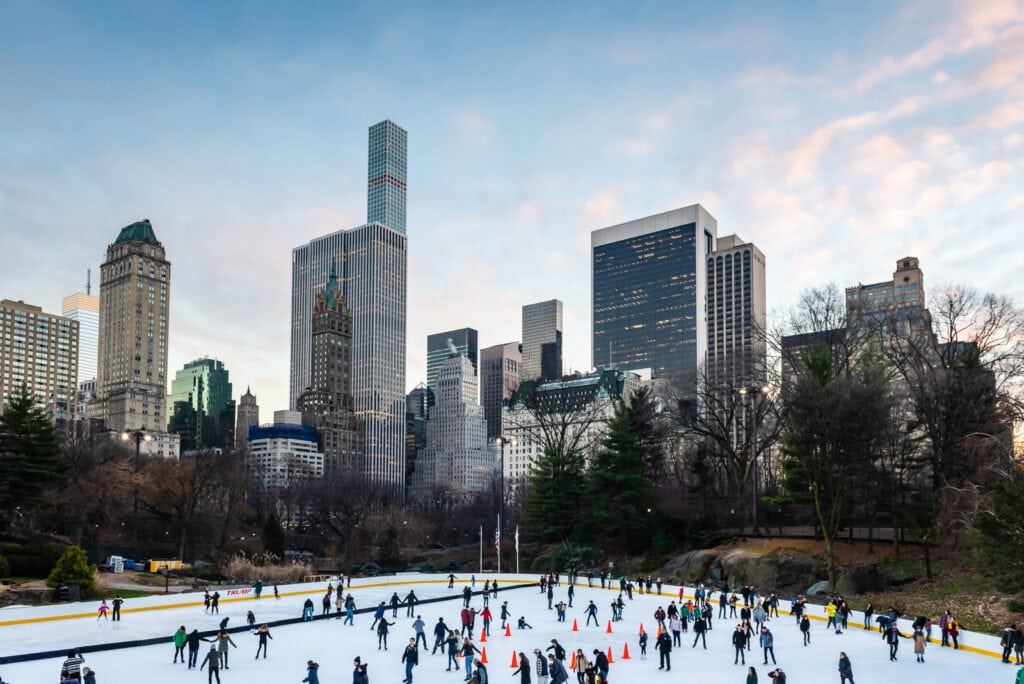 Wollman Ice Skating Rink in Central Park - NYC