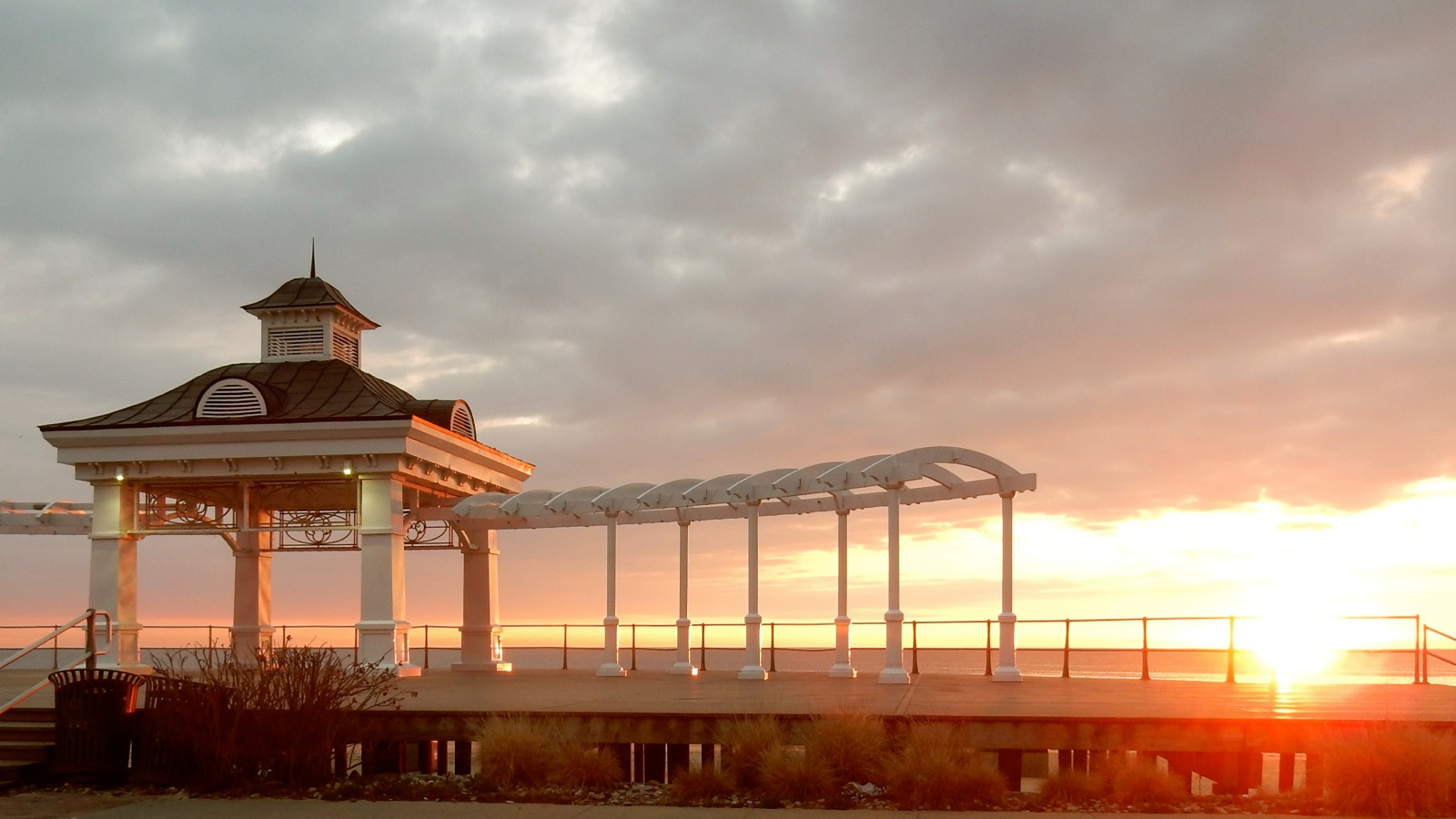 Sunrise over Long Branch NJ Boardwalk tops list of romantic getaways in nj
