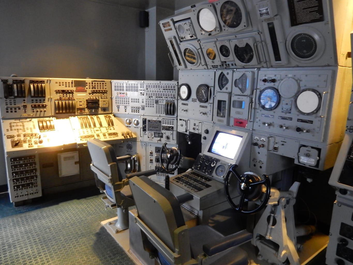 Ship Control Panel from USS Billfish at Submarine Force Museum, Groton CT