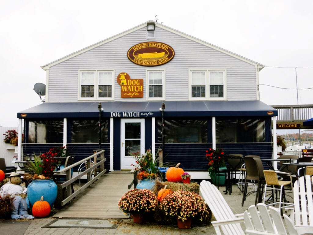 Dogwatch Cafe located at Dodson Boat Yard