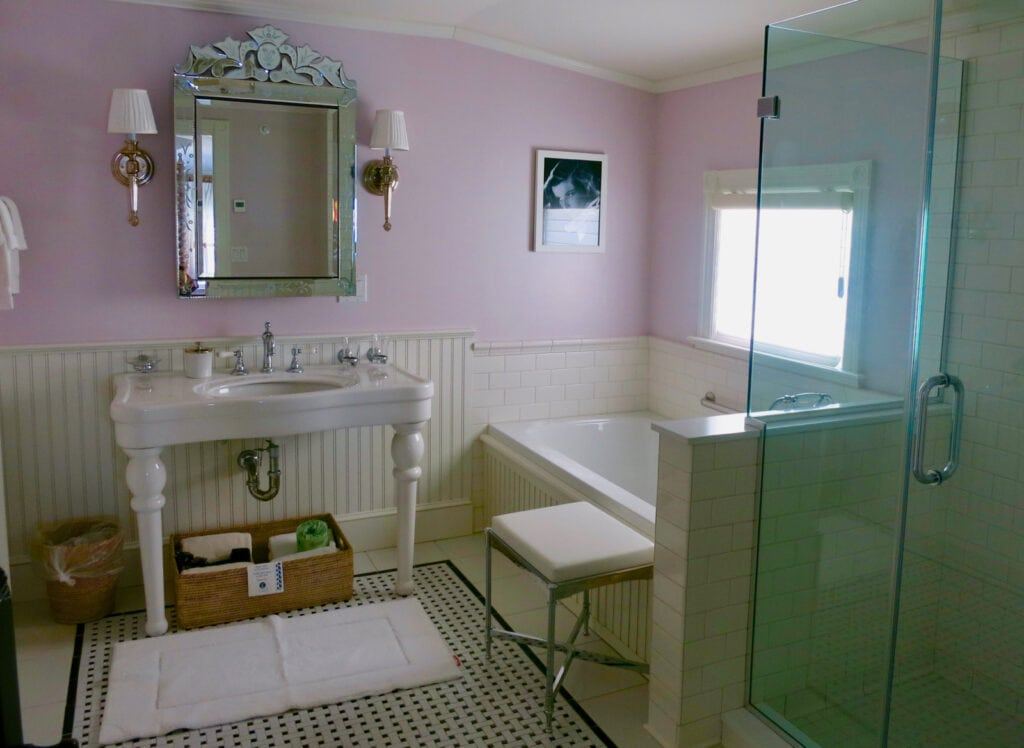 Katherine Hepburn Suite Bathroom Saybrook Point Inn CT