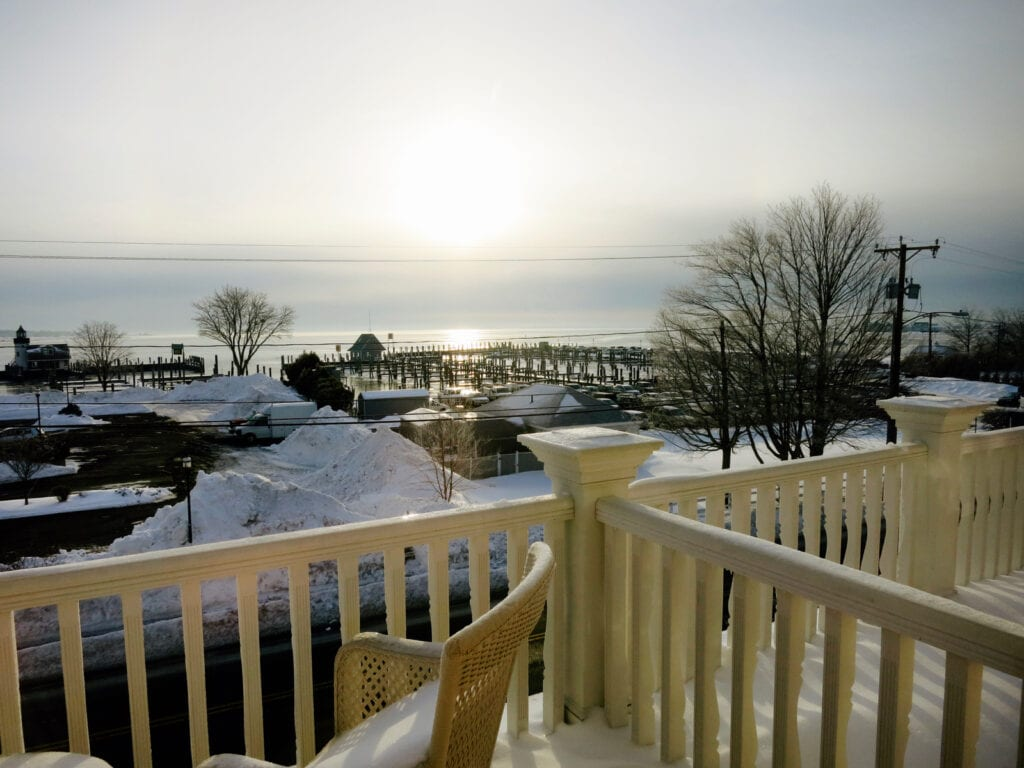 View of Water from Tall Tales Guest House Saybrook Point Inn