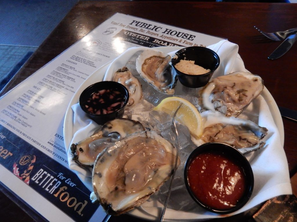 Oysters and beer, EVO Brewery, Salisbury MD