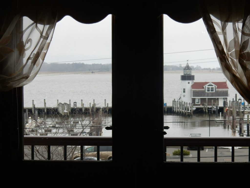 View from room at Tall Tales, Saybrook Point Inn and Spa, CT