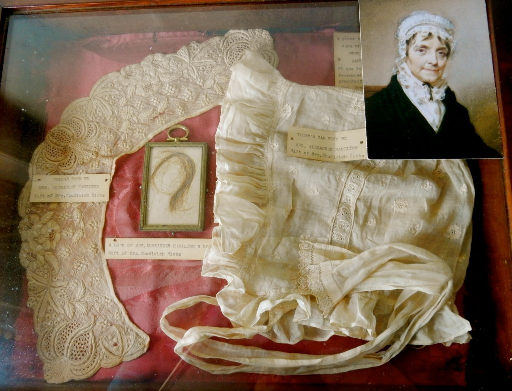 Betty Schuyler artifacts at Schuyler Hamilton House in Morristown NJ.