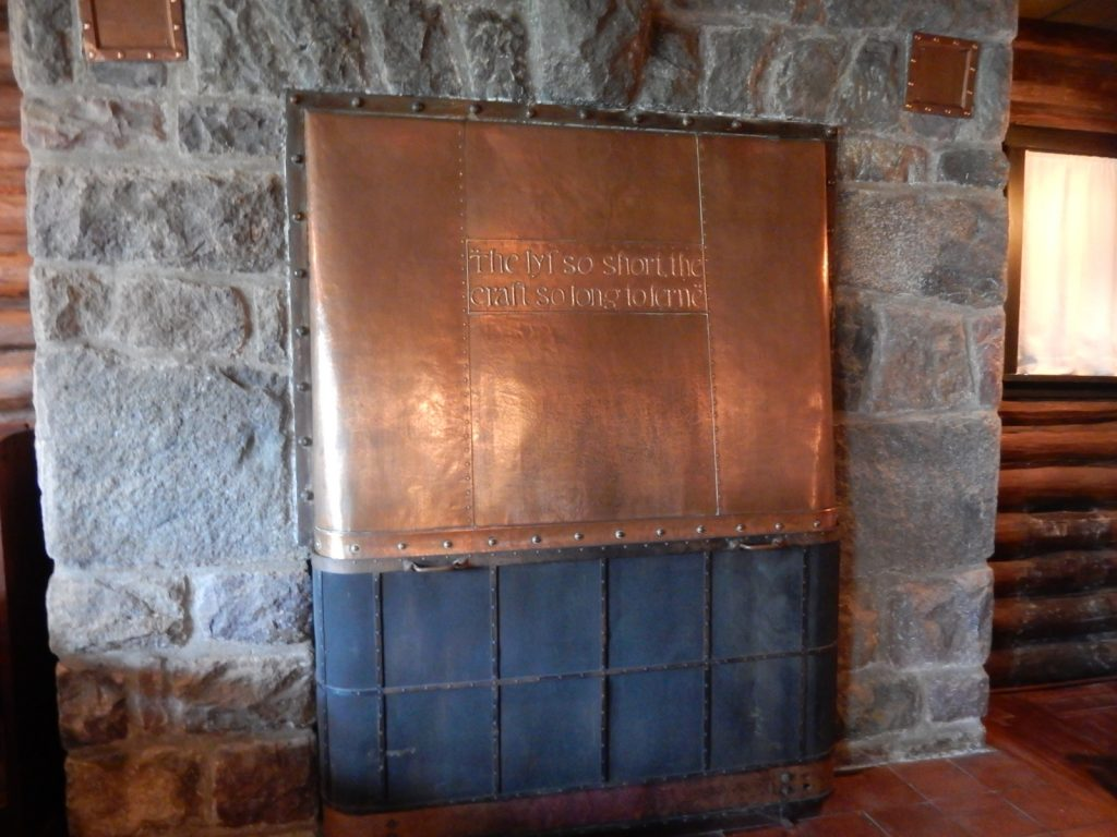 Copper Cover Fireplace - Stickley Museum at Craftsman Farm