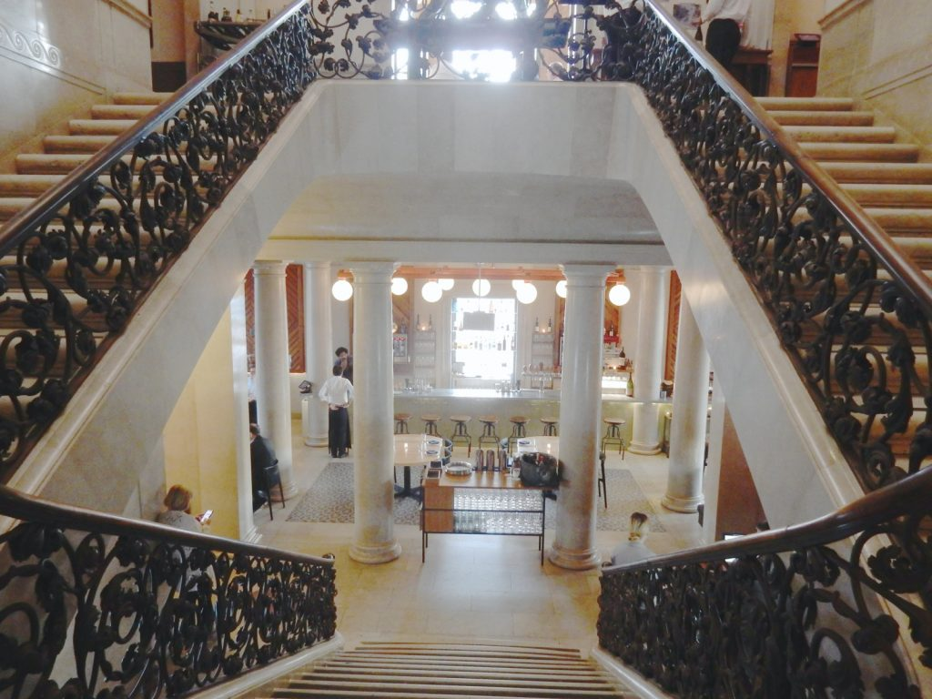 Double Marble Staircase - Jockey Hollow Bar and Kitchen - Morristown NJ