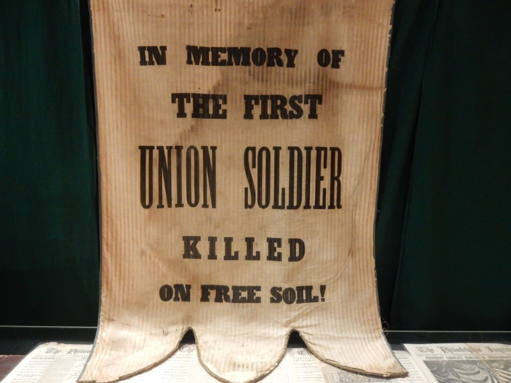 First Union Killed on Free Soil, Allison-Antrim Museum, Greencastle PA