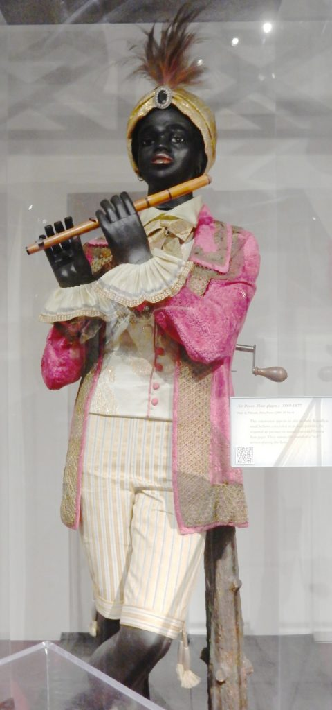 Flautist statue on exhibit at Morris Museum