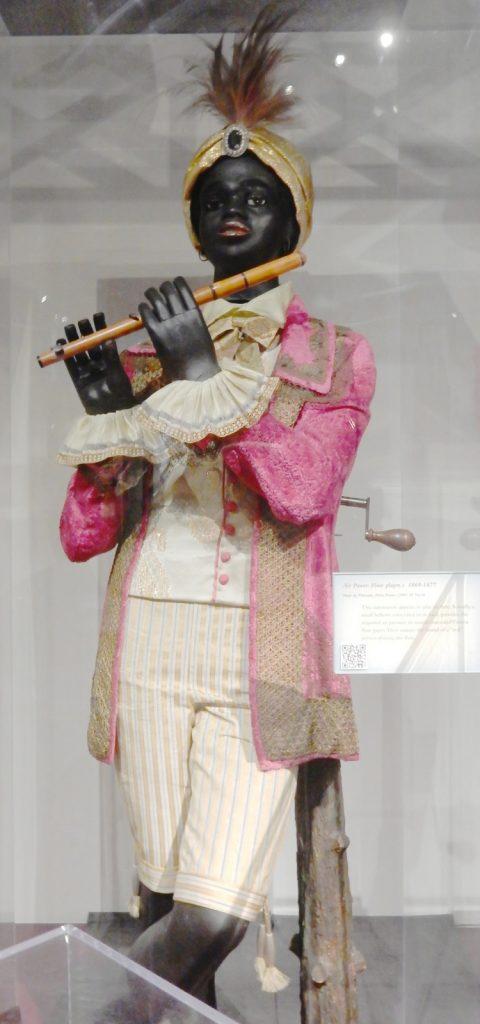 Flautist statue on exhibit at Morris Museum