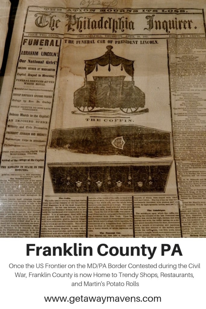 Franklin County PA Pin