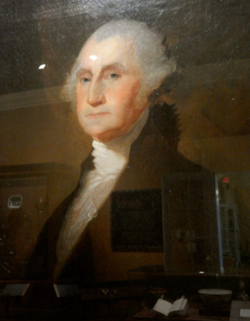 Gilbert Stuarts painting at George Washington Headquarters National Historic Park