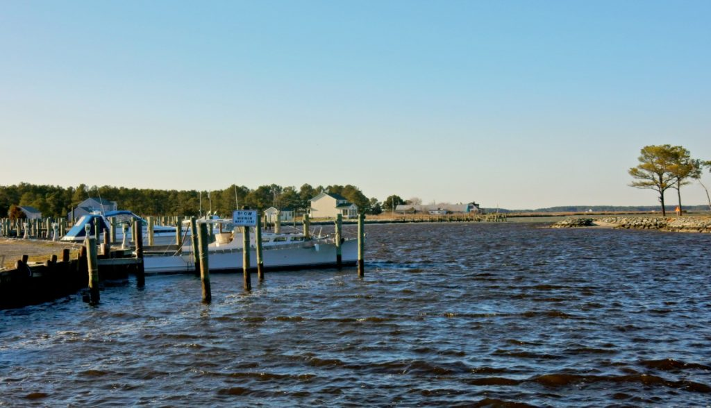 Waterside view of Madison MD, a fishing village on the Eastern Shore.