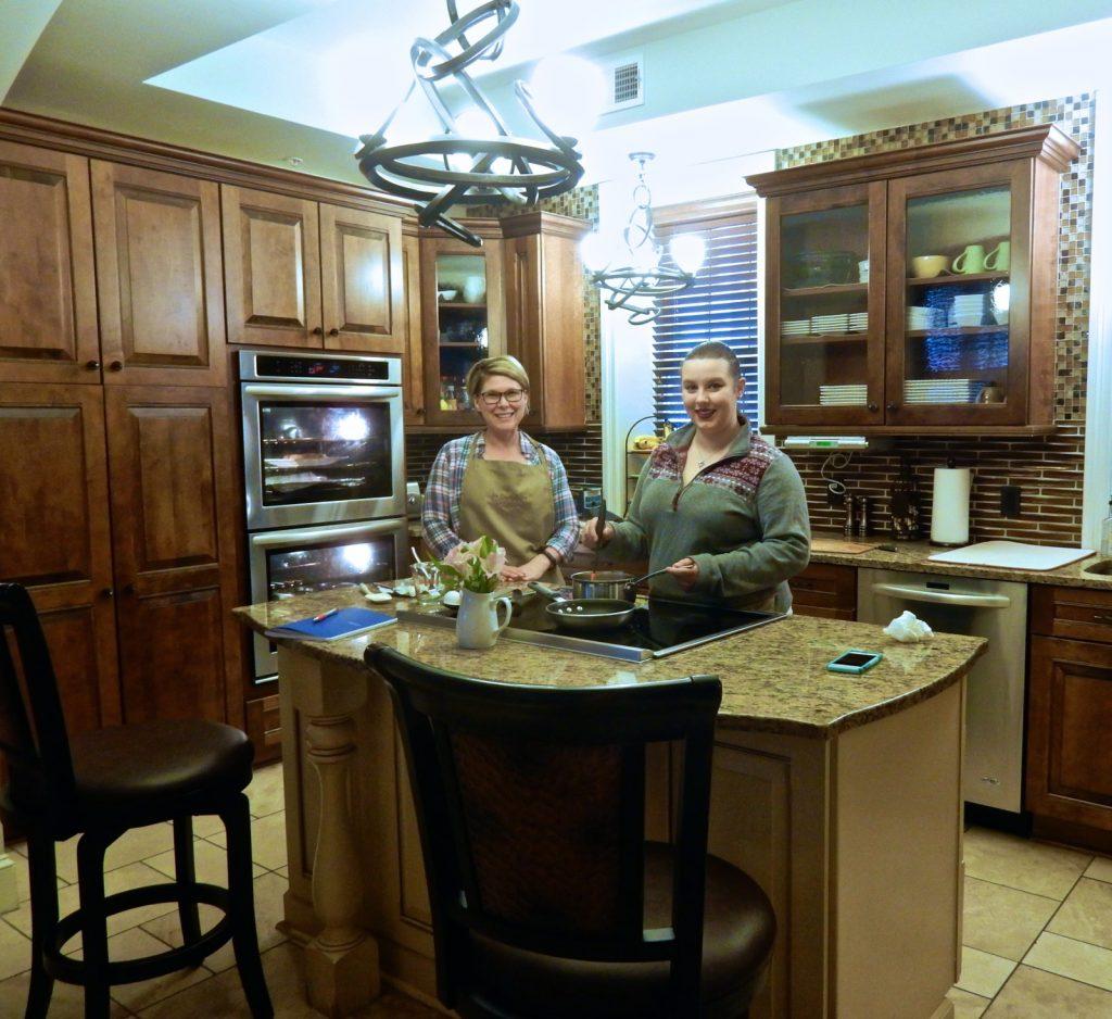 Preparing breakfast in kitchen at Inn Boonsboro MD