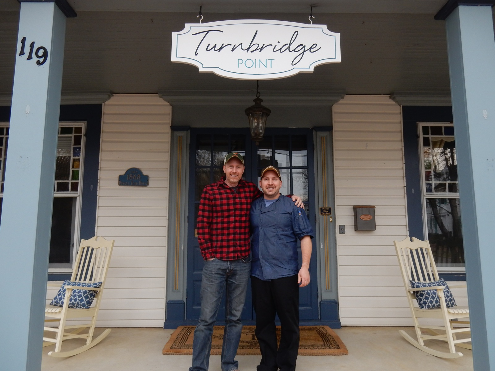 Turnbridge Point owners Patent Attorney/decorator, Rob Griffith, and his partner, Steve Konopelski, a former Broadway dancer.