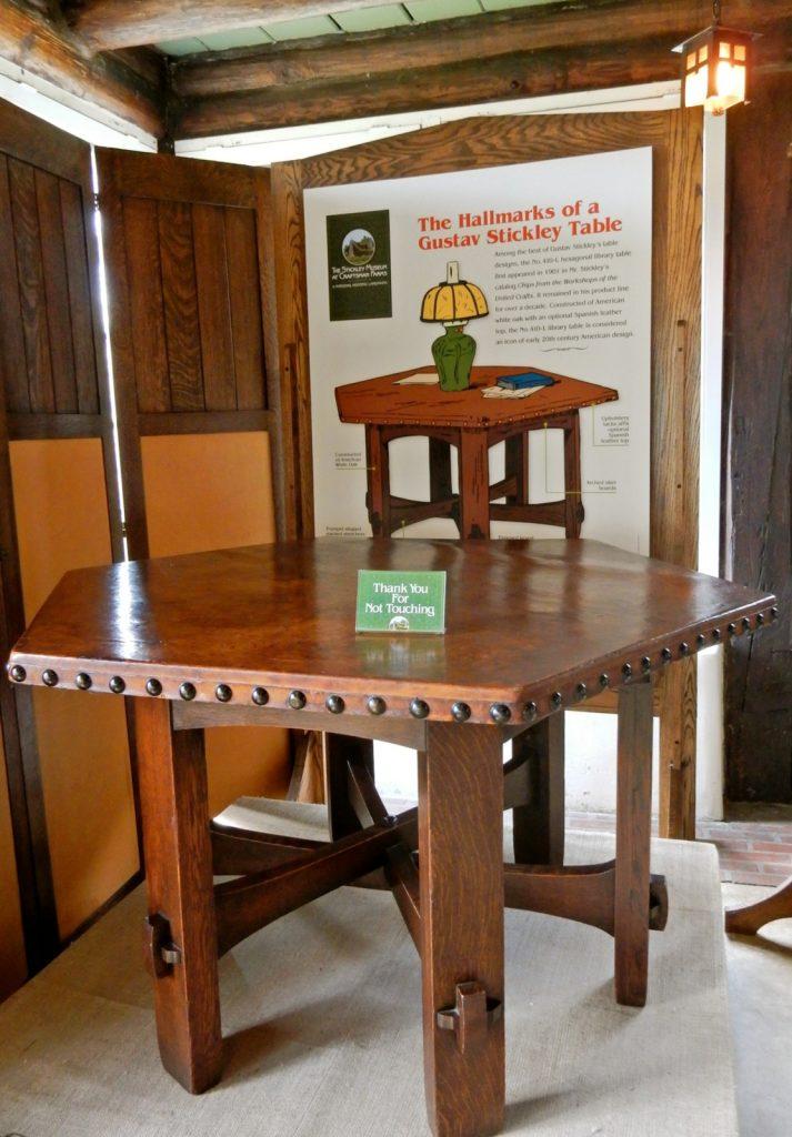 Stickley Table, Stickley Museum at Craftsman Farms, Morris Plains NJ