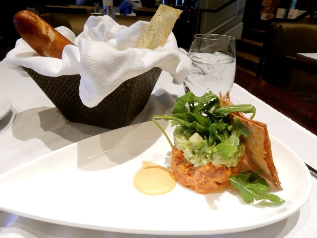 Tuna Tartar at Blue Morel Restaurant in Morristown NJ.
