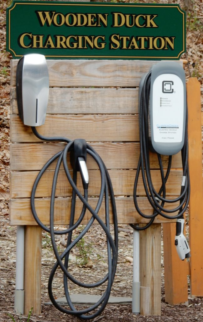 Wooden Duck BnB Electric Car Charging Station NJ
