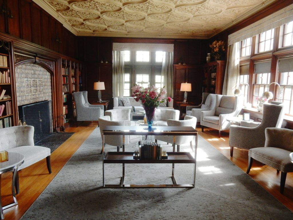Library, Castle Hill Resort, Proctorsville VT