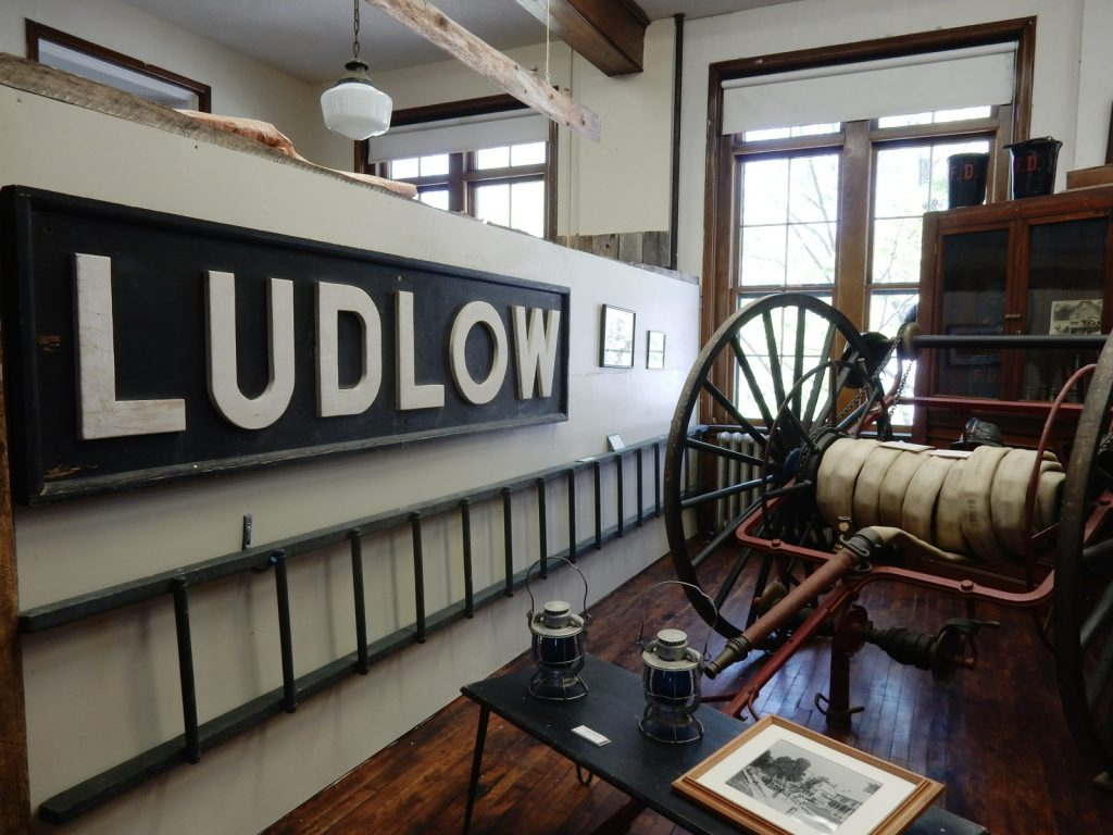 Ludlow VT Sign, Black River Academy Museum