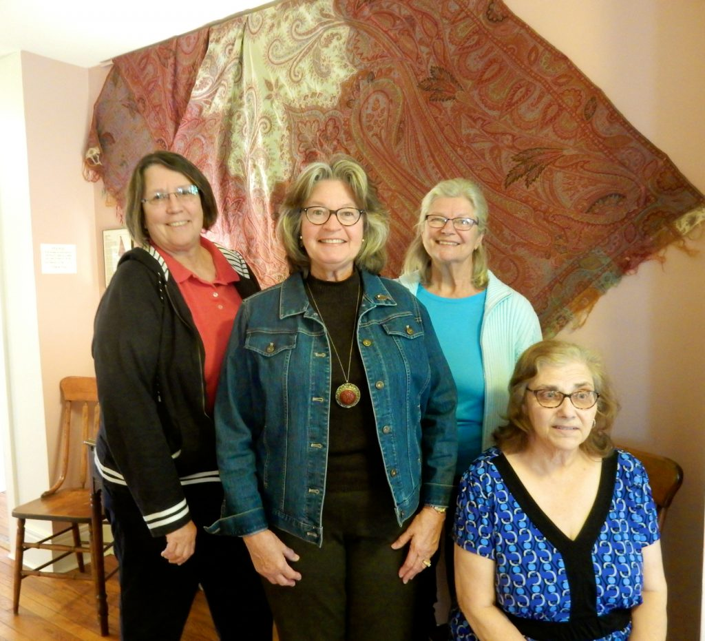 Nancy Madacsi, Joyce Simmons, Renee Ferguson and Maryanne Francisco of the Sparta Historical Society