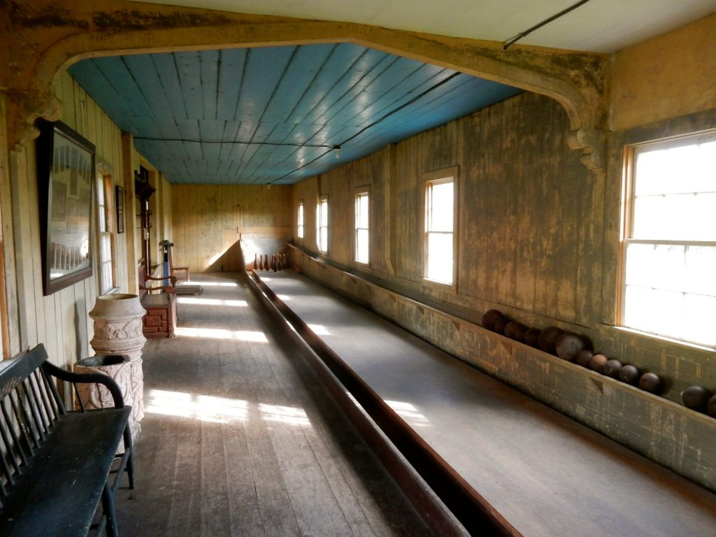 Oldest Bowling Alley in USA, Roseland Cottage, Woodstock CT