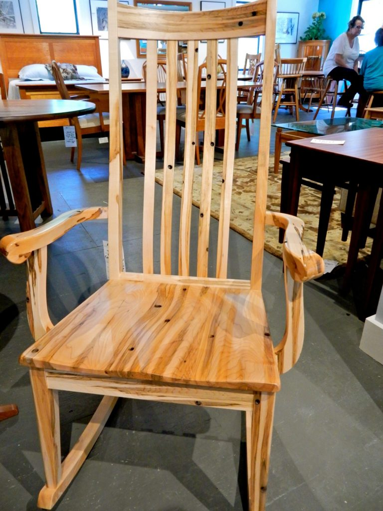 Tapped Maple Rocker, ClearLake Furniture, Ludlow VT