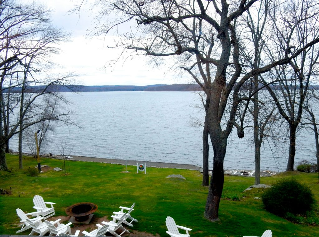 View of Lake Wallenpaupak from room, Silver Birches Resort, Hawley PA