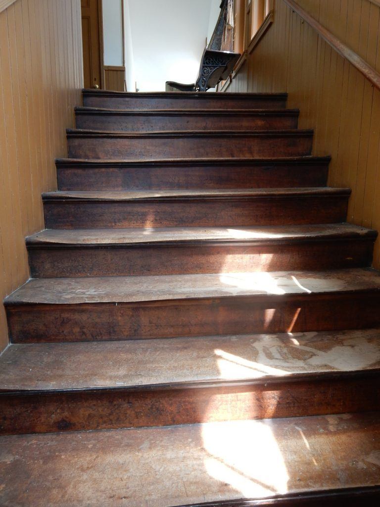 Worn Stairs, Black River Academy, Ludlow VT